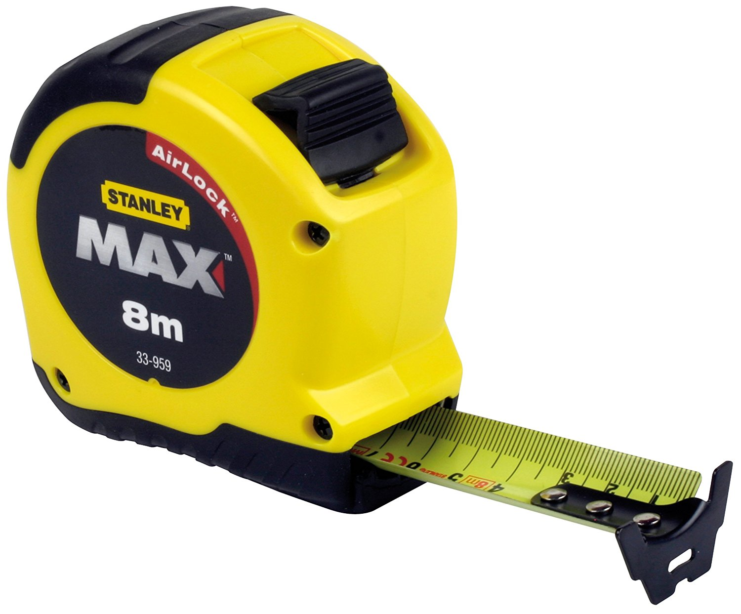 Stanley 0 33 959 max tape measure with magnetic hook 8 m for Magnetic fish tape