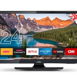 "Cello 12 volt 24"" Superfast Smart LED TV with Wi-Fi and Freeview T2 HD"